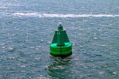 Mądrze boja unosi się w morzu obraz royalty free