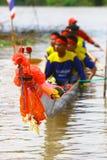 Mądrze długa łódź na ścigać się Fotografia Royalty Free