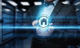 Mądrze domowej automatyzaci system kontrolny Innowaci technologii interneta sieci pojęcie Fotografia Stock