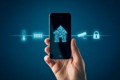 Mądrze domowy app na mądrze telefonu pojęciu fotografia royalty free