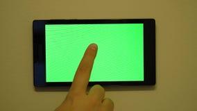 Mądrze domowy kontrolny przyrząd na ścianie zbiory wideo