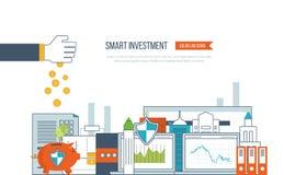 Mądrze inwestycja, finanse, targowe dane analityka, strategiczny zarządzanie, pieniężny planowanie ilustracji