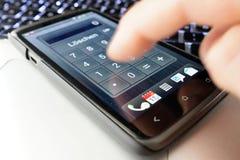 mądrze kalkulatora telefon Zdjęcie Royalty Free