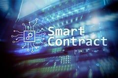 Mądrze kontrakt, blockchain technologia w nowożytnym biznesie Zdjęcia Royalty Free