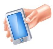 mądrze ręka telefon ilustracji