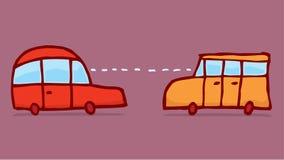 Mądrze samochody łączy informację i dzieli Zdjęcia Royalty Free