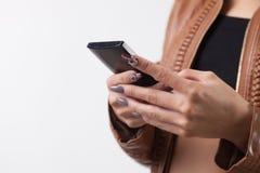 mądrze telefon kobieta obrazy royalty free