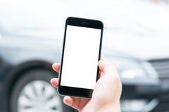 Mądrze telefonu i samochodu usługa Obraz Royalty Free