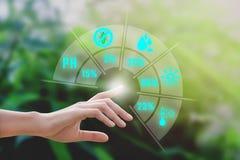 Mądrze uprawiać ziemię z technologią AI zdjęcie royalty free
