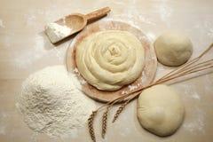 mąka ciasta obrazy stock