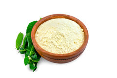 Mąka groch w pucharze lub chickpea obrazy stock