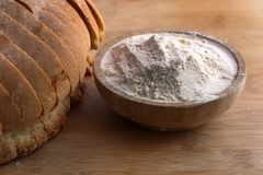Mąka i chleb fotografia royalty free