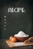 Mąka i jajka Fotografia Royalty Free