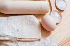 Mąka i jajko obraz stock