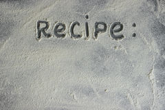 Mąka na kamiennym tle Uwalnia przestrzeń dla teksta Zdjęcia Stock