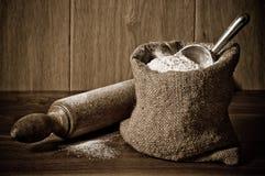 mąka worek Fotografia Royalty Free