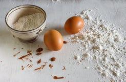 Mąka z jajkami zdjęcia royalty free
