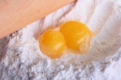 mąki kłamstwa dwa yolks Zdjęcia Royalty Free