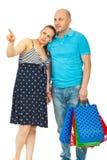 męża ciężarna zakupy kobieta zdjęcia royalty free