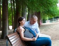męża kobieta w ciąży Obraz Stock