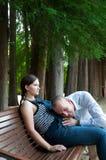 męża kobieta w ciąży Obrazy Stock