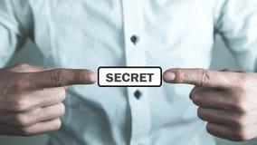 Mężczyzn palce pokazuje tajnego słowo zdjęcia royalty free