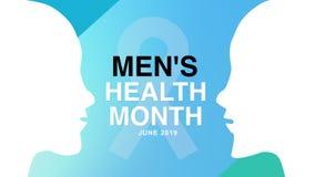 Mężczyzn zdrowie miesiąca plakat i sztandar kampania - projektuje ilustrację royalty ilustracja