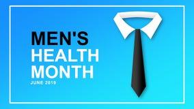 Mężczyzn zdrowie miesiąca plakat i sztandar kampania - projektuje ilustrację ilustracji