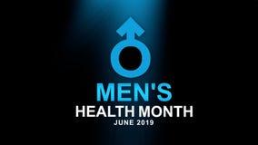 Mężczyzn zdrowie miesiąca plakat i sztandar kampania - projektuje ilustrację Pomy?lno?ci poj?cie ilustracja wektor