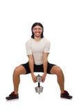 Mężczyzna ćwiczy z dumbbels Obrazy Stock