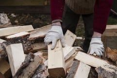 Mężczyzna Ładowniczy drewna Zdjęcie Royalty Free