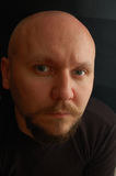 mężczyzna łysy głowiasty portret Obrazy Royalty Free