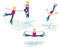 mężczyzna śmieszny lodowy łyżwiarstwo royalty ilustracja