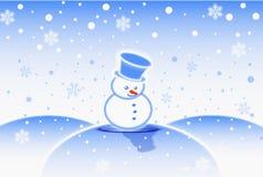 mężczyzna śnieg ilustracji