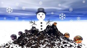 mężczyzna śnieg Obraz Stock