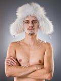 mężczyzna śnieg Fotografia Royalty Free