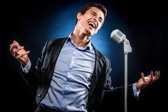 Mężczyzna śpiew Obraz Stock