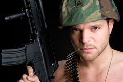 mężczyzna żołnierz Obrazy Royalty Free