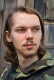 mężczyzna 3 z włosami długiego potomstwa obrazy stock