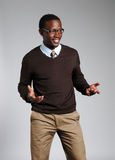 mężczyzna, afroamerykanin young Zdjęcia Royalty Free