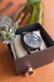 Mężczyzna akcesoria Mężczyzna zegarek fotografia royalty free