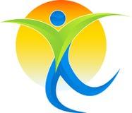 Mężczyzna aktywny logo ilustracji
