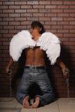 Mężczyzna anioł Zdjęcie Royalty Free
