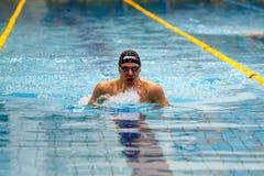 mężczyzna atlety pływaczki pływacka żabka obrazy royalty free