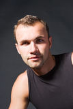 mężczyzna atrakcyjny portret fotografia royalty free