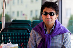 mężczyzna autobusowy zakupy Fotografia Stock