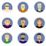 Mężczyzna avatar ikon wektoru set Obraz Royalty Free