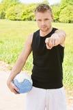 mężczyzna balowa siatkówka Zdjęcia Royalty Free