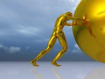 mężczyzna balowe rolki Fotografia Royalty Free