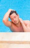mężczyzna basen Obrazy Royalty Free